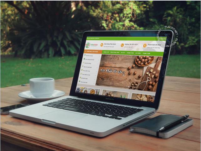 Thiết kế web bán hàng hạt điều