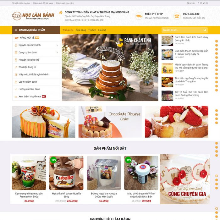 Thiết kế web bán bánh ngọt