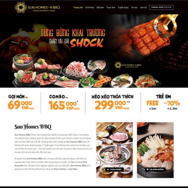 Thiết kế web nhà hàng BBQ