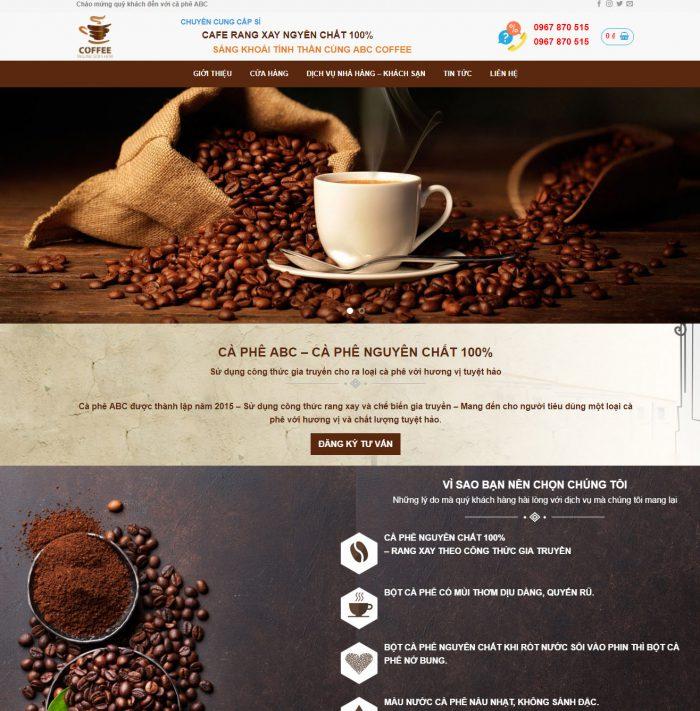 Thiết kế web bán cà phê