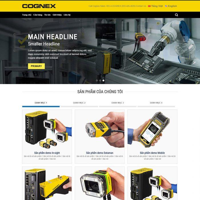 Thiết kế web bán sản phẩm cơ điện