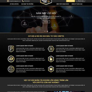 Thiết kế web landingpage tiền ảo