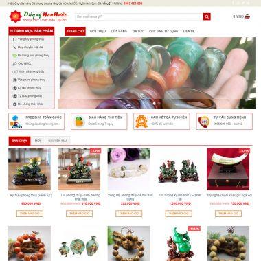 Thiết kế web bán đá quý
