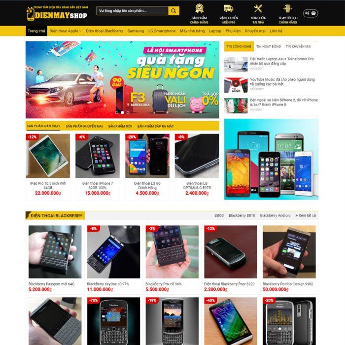 Thiết kế web shop điện máy