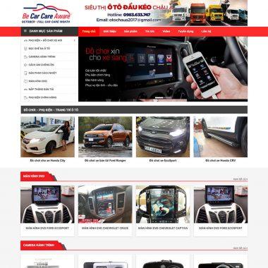 Thiết kế web salon xe ô tô