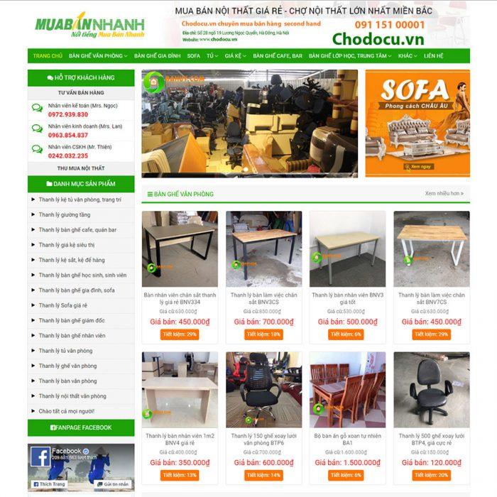 Thiết kế web bán hàng chợ đồ cũ