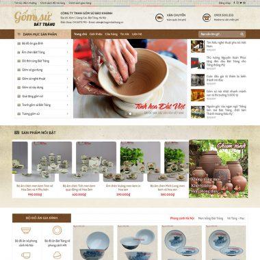 Thiết kế web bán đồ gốm
