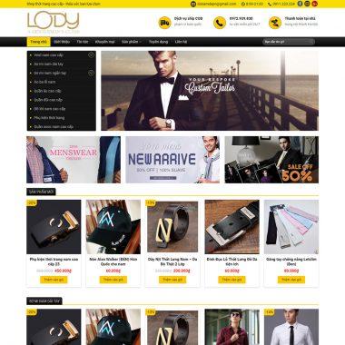 Thiết kế web bán hàng đồ nam