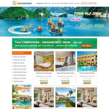 Thiết kế web đặt tour du lịch
