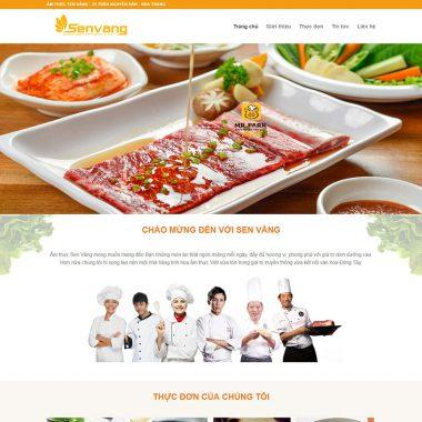 Thiết kế web nhà hàng ẩm thực