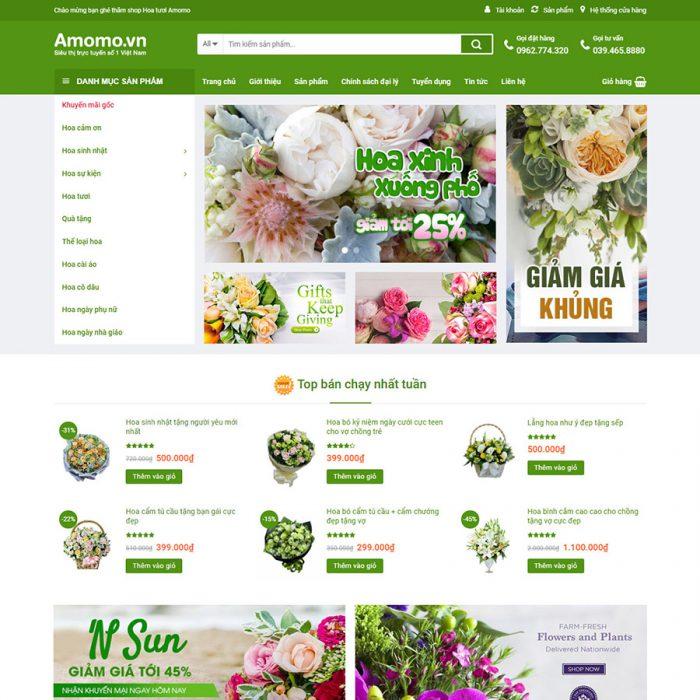 thiet ke web ban hoa tuoi