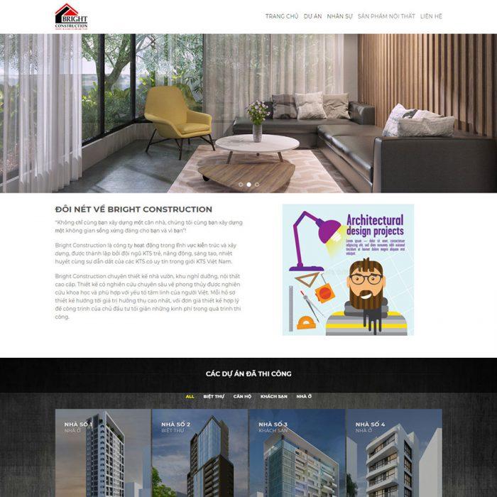 Thiết kế web công ty kiến trúc xây dựng