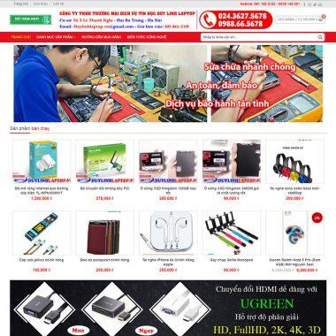 Thiết kế web bán hàng linh kiện