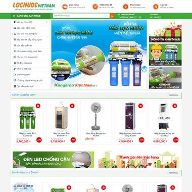 Thiết kế web bán máy lọc nước