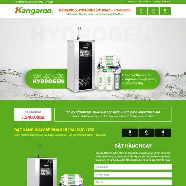Thiết kế web landingpage máy lọc nước