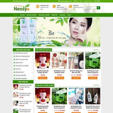 Thiết kế web bán hàng mỹ phẩm