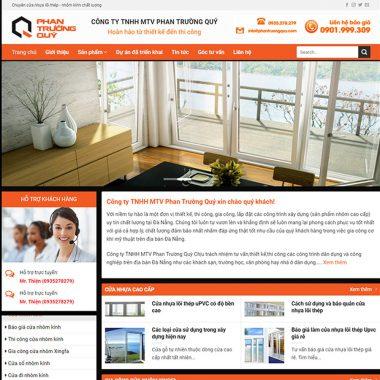 Thiết kế web bán nhôm kính