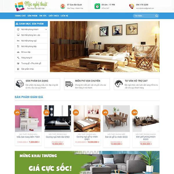 Thiết kế web bán nội thất