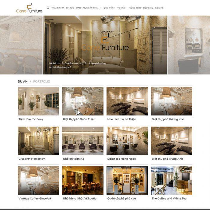 Thiết kế web trang trí nội thất