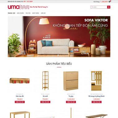 Thiết kế web nội thất xinh