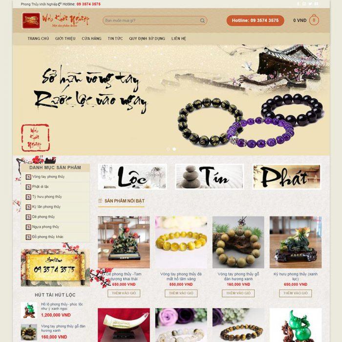 Thiết kế web bán đồ phong thuỷ