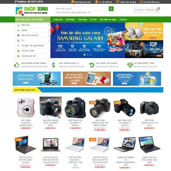 Thiết kế web bán điện thoại