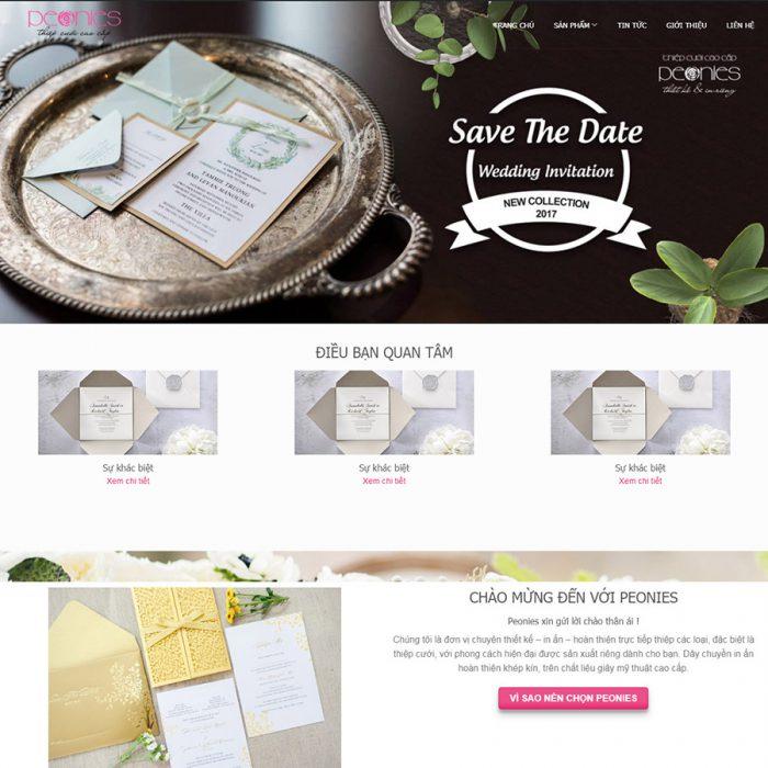 Thiết kế web bán thiệp cưới
