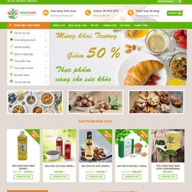 Thiết kế web shop thực phẩm