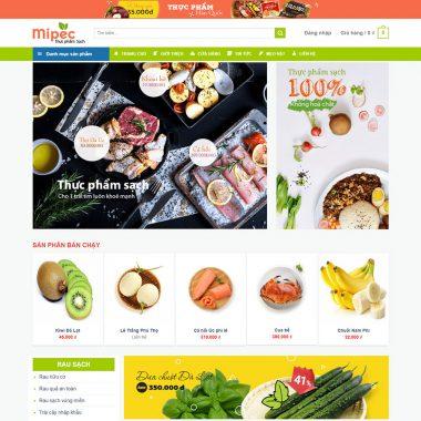 Thiết kế web bán thực phẩm tươi