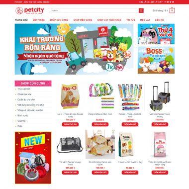 Thiết kế web thực phẩm thú cưng