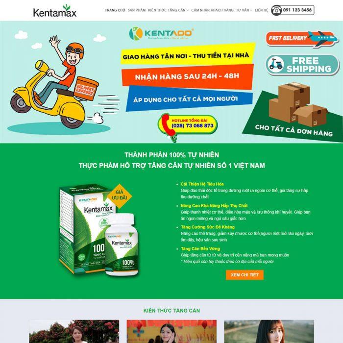 Thiết kế web thực phẩm chức năng