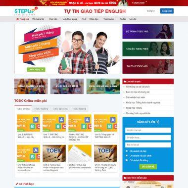 Thiết kế web trung tâm anh ngữ quốc tế