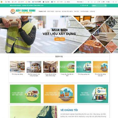 Thiết kế web công ty xây dựng