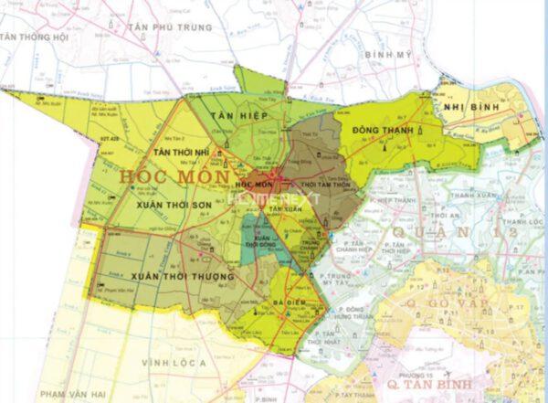 Danh sách những tên đường ở Huyện Hóc Môn Thành Phố Hồ Chí Minh